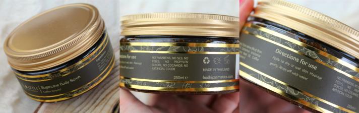 Bodhi Cosmetics Sugar body scrub Coffee Almond..