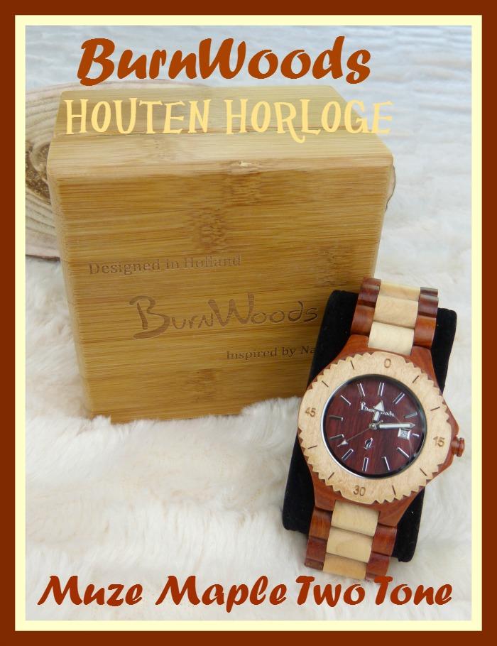 BurnWoods houten Horloge Muze Maple Two Tone
