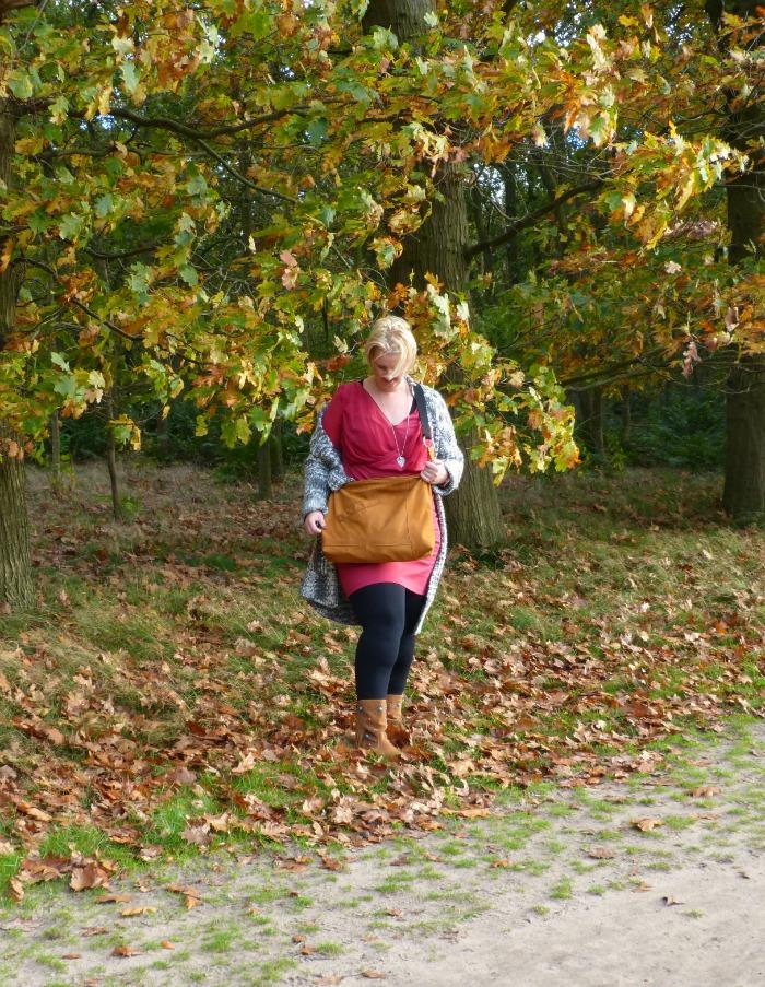 herfst walk met upcycled tas