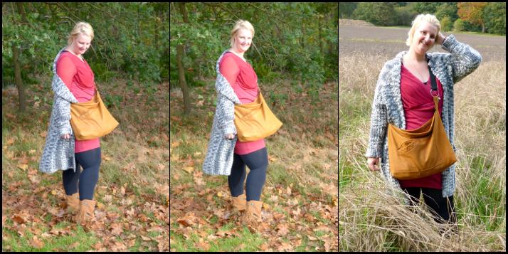 herfst wandeling met upcycled tas