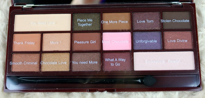 I Heart Chocolat Palette Makeup Revolution