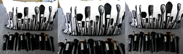 Kussens van Kussen.nl met makeup kwasten