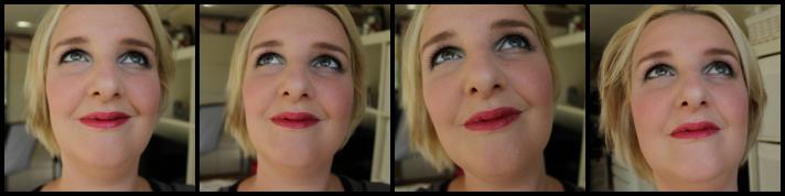 Look met Oriflame lippenstift always Cranberry