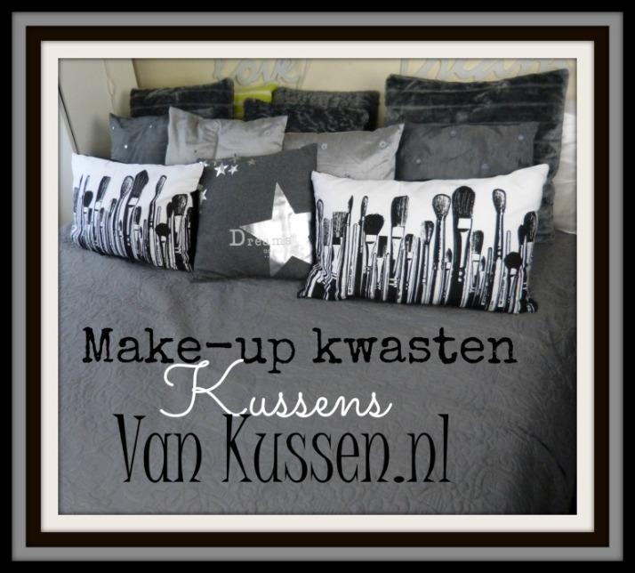 Make-up kwasten kussens van Kussen.nl
