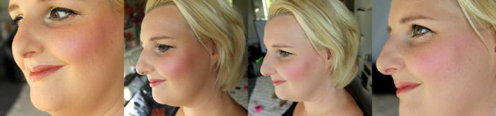 Makeup revolution Blush blushing heart look