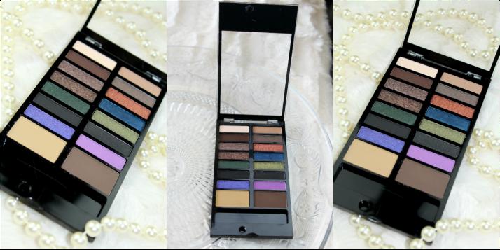 oogschaduw en wenkbrauw palette Makeup revolution