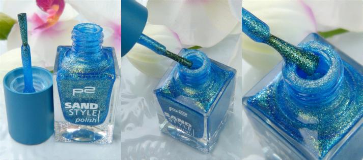 sandstyle nagellak van P2 in dreamy