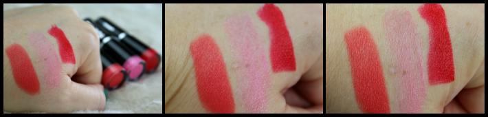 swatches MUA Lippenstiften