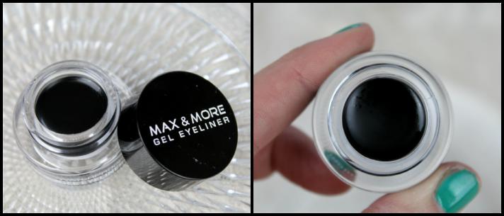 Action zwarte Max & More waterproof gel eyeliner