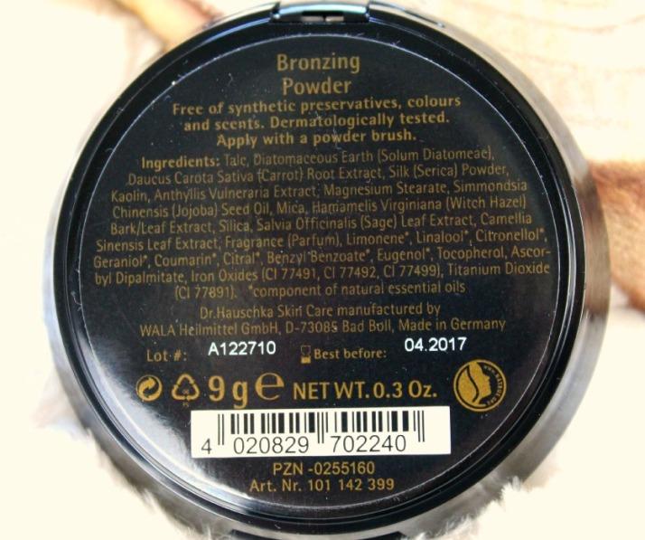Ingrediënten Dr. Hauschka Bronzing Powder