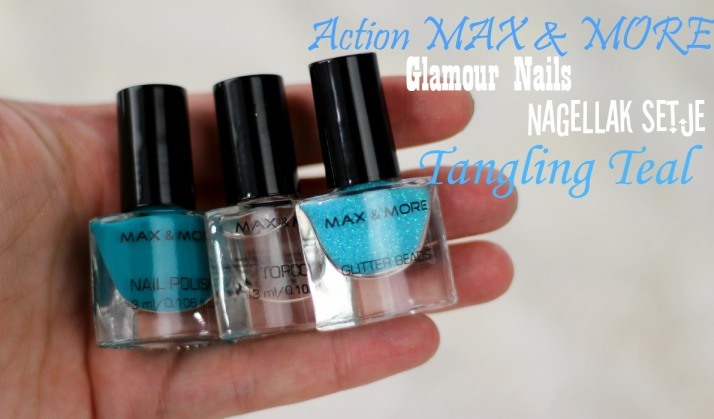 Action Max & More Glamour Nails nagellak setje Tangling Teal