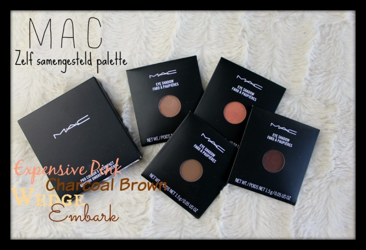 MAC zelf samengesteld palette Expensive Pink, Charcoal brown, Wedge, Embark