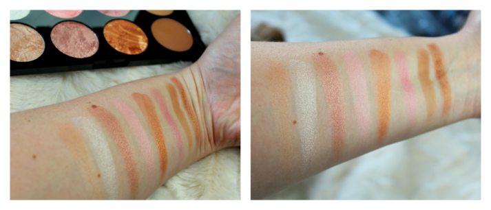 Swatches makeup revolution golden sugar blush palette