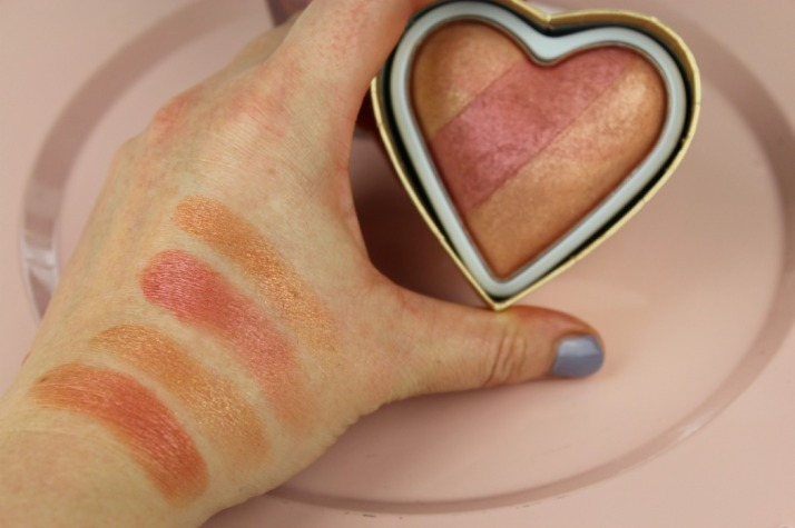 swatches peachy Kean Heart Blush Makeup Revolution