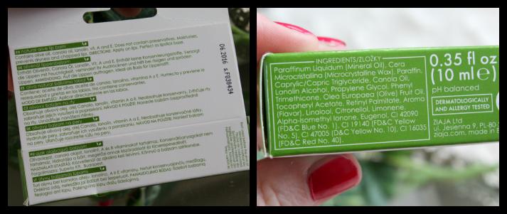 Natural olive lip balm Ziaja ingrediënten