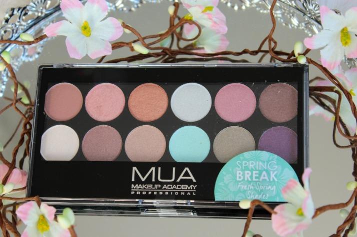 spring break palette MUA