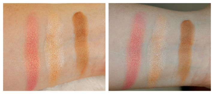 swatches makeup revolution contour kit