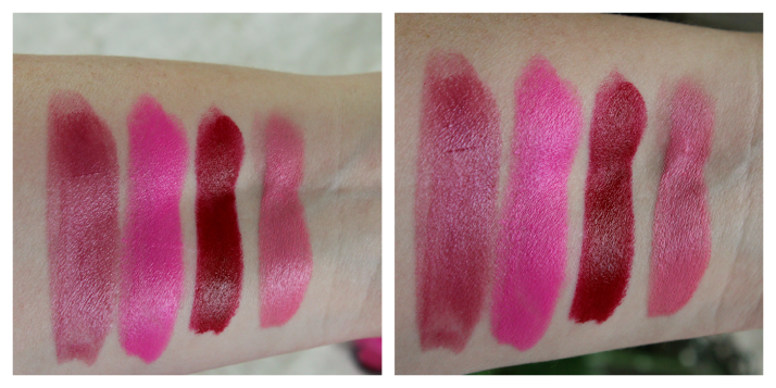 Swatches MUA Lipstick Shade 2, Persian Rose, Shade 1, Tulip